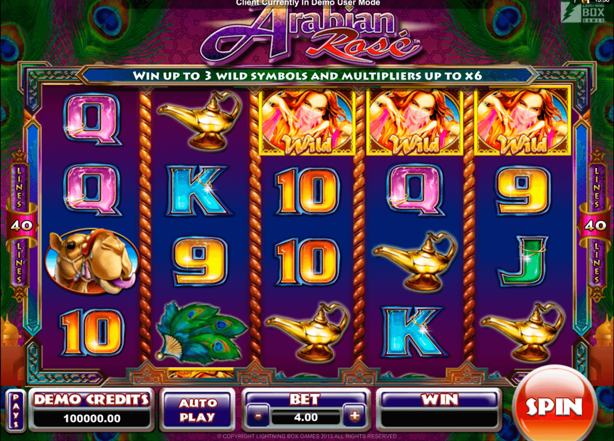 arabian rose microgaming