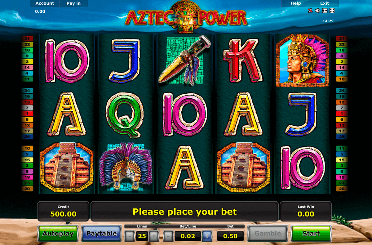 aztec power novomatic online spielen
