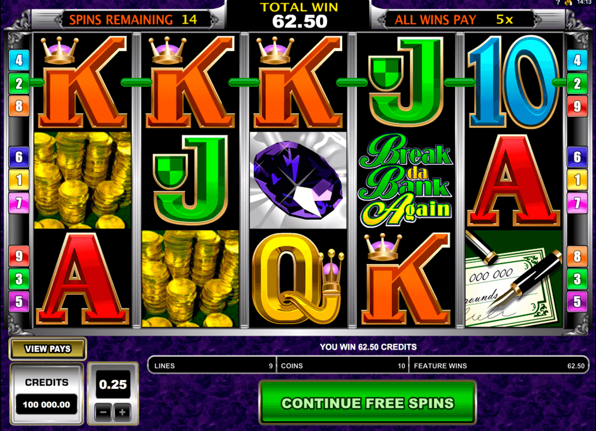 break da bank again microgaming online spielen