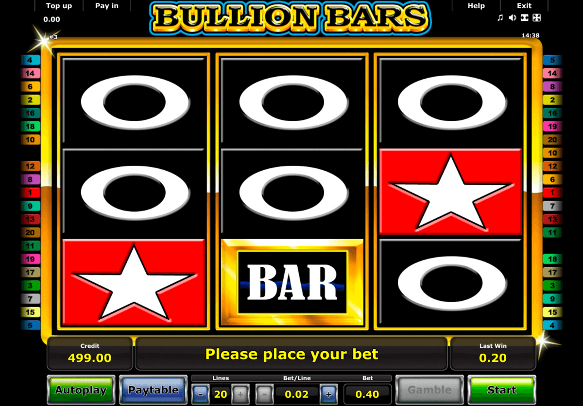 bullion bars novomatic online spielen
