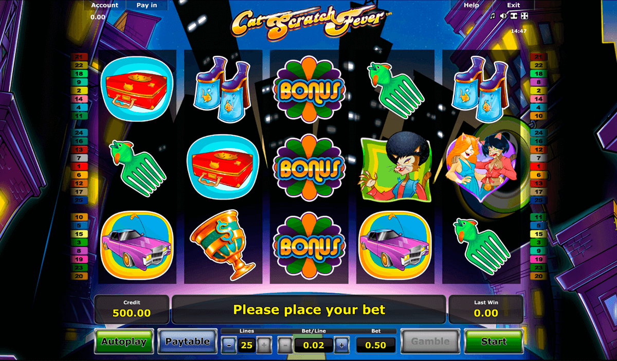 cat scratch fever novomatic online spielen