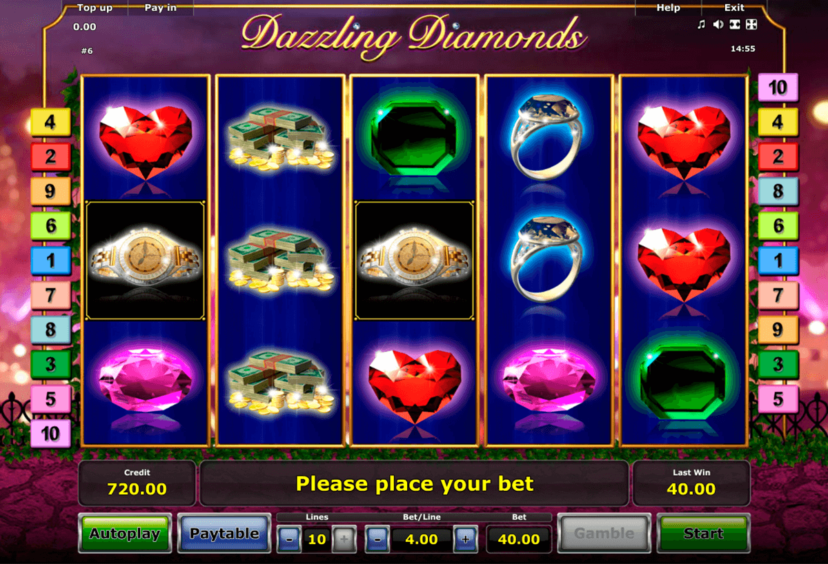 dazzling diamonds novomatic