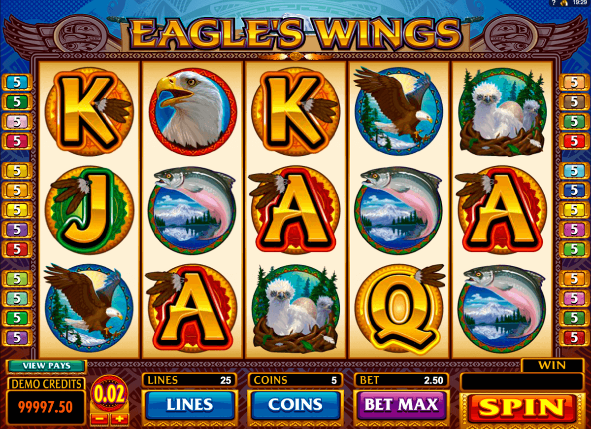 eagles wings microgaming online spielen