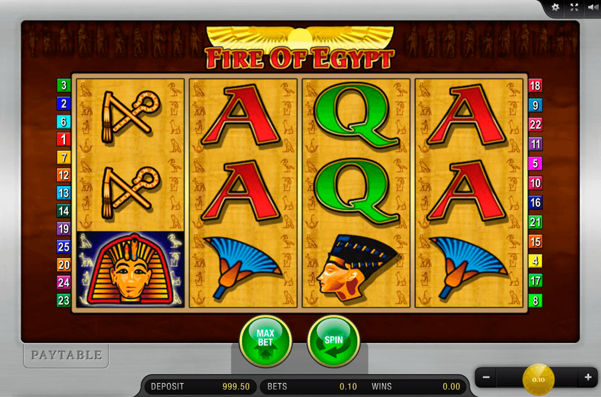 fire of egypt merkur online spielen
