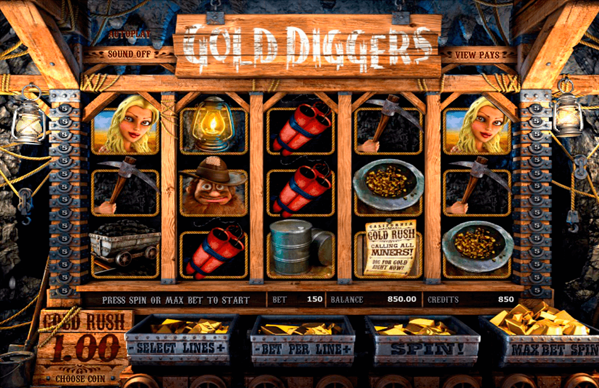 gold diggers betsoft