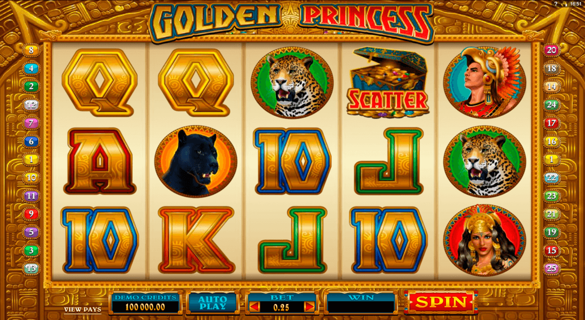 golden princess microgaming online spielen