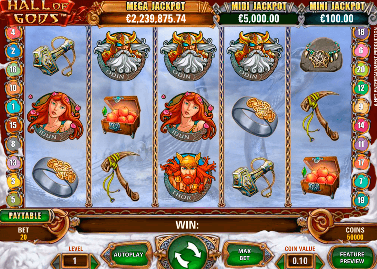 hall of gods netent online spielen