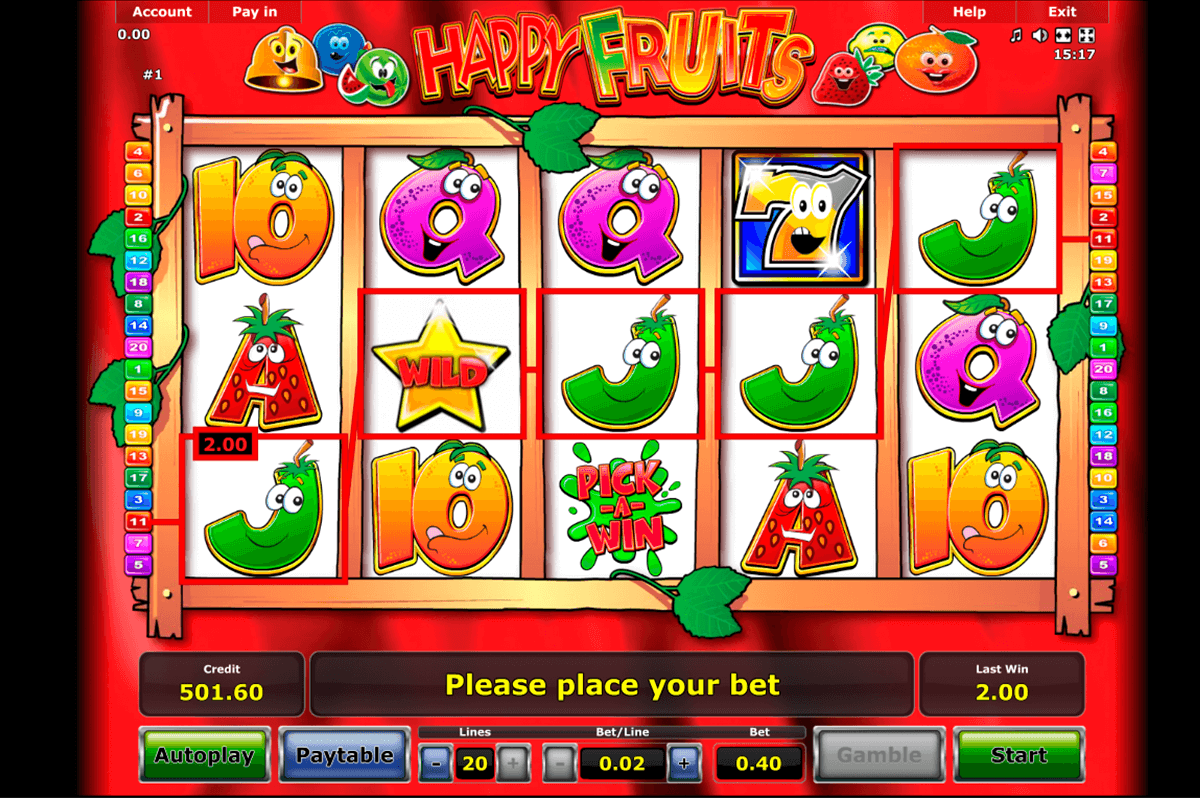 happy fruits novomatic online spielen