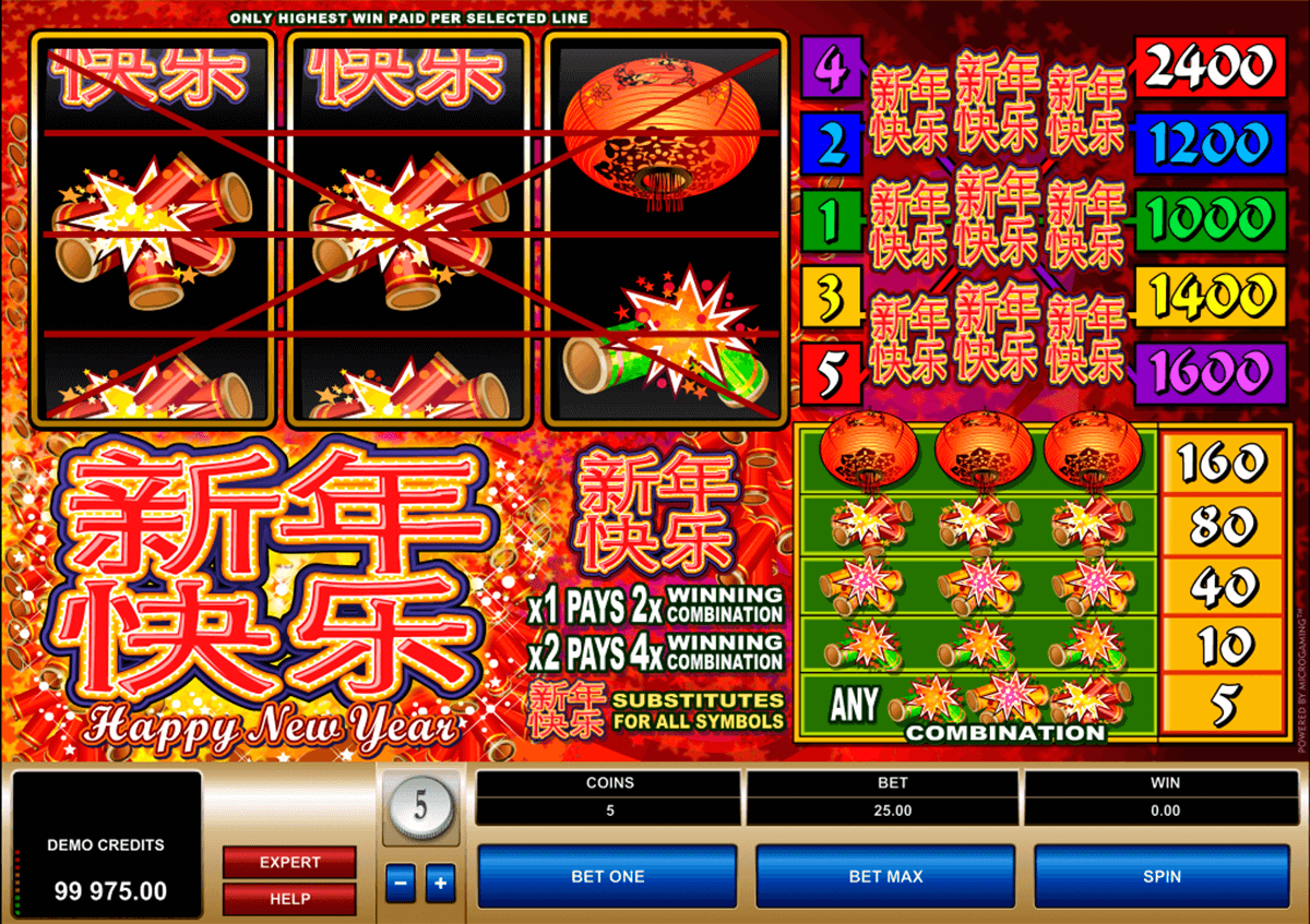 happy new year microgaming online spielen