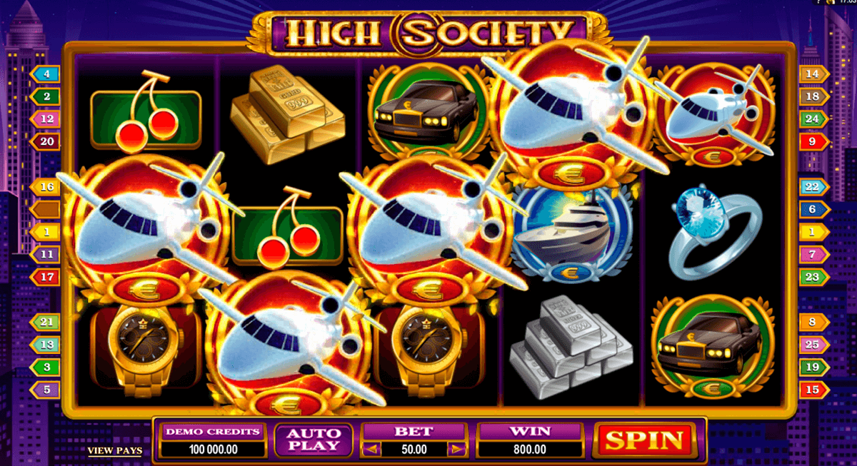 high society microgaming online spielen