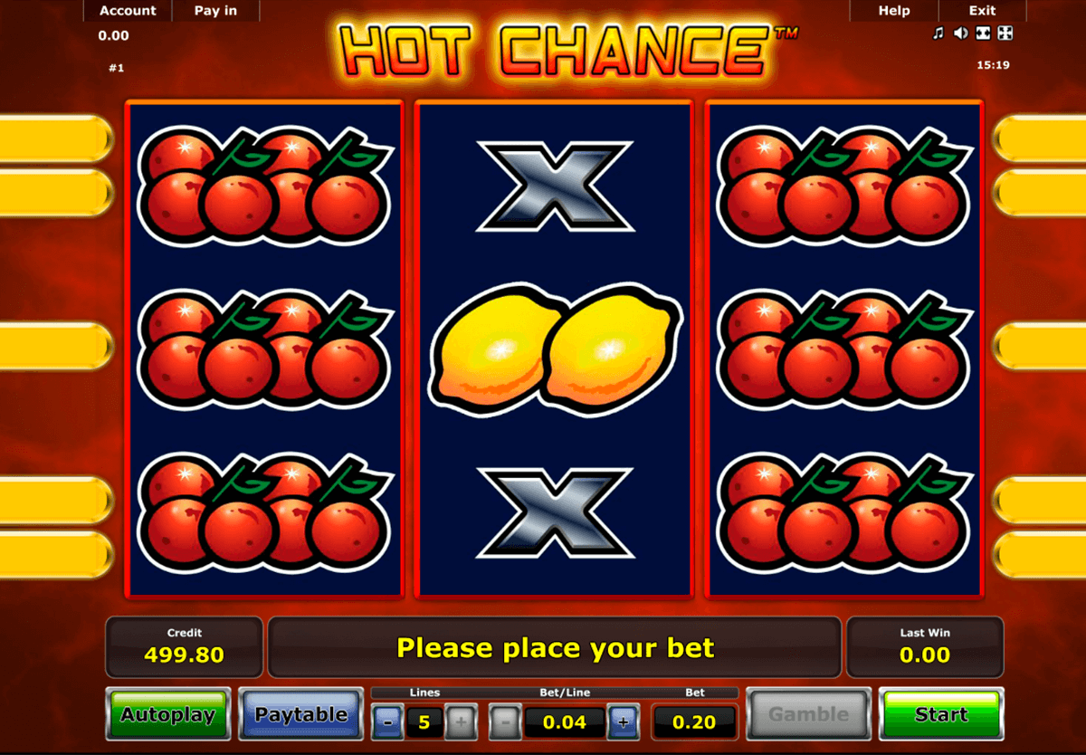 hot chance novomatic online spielen