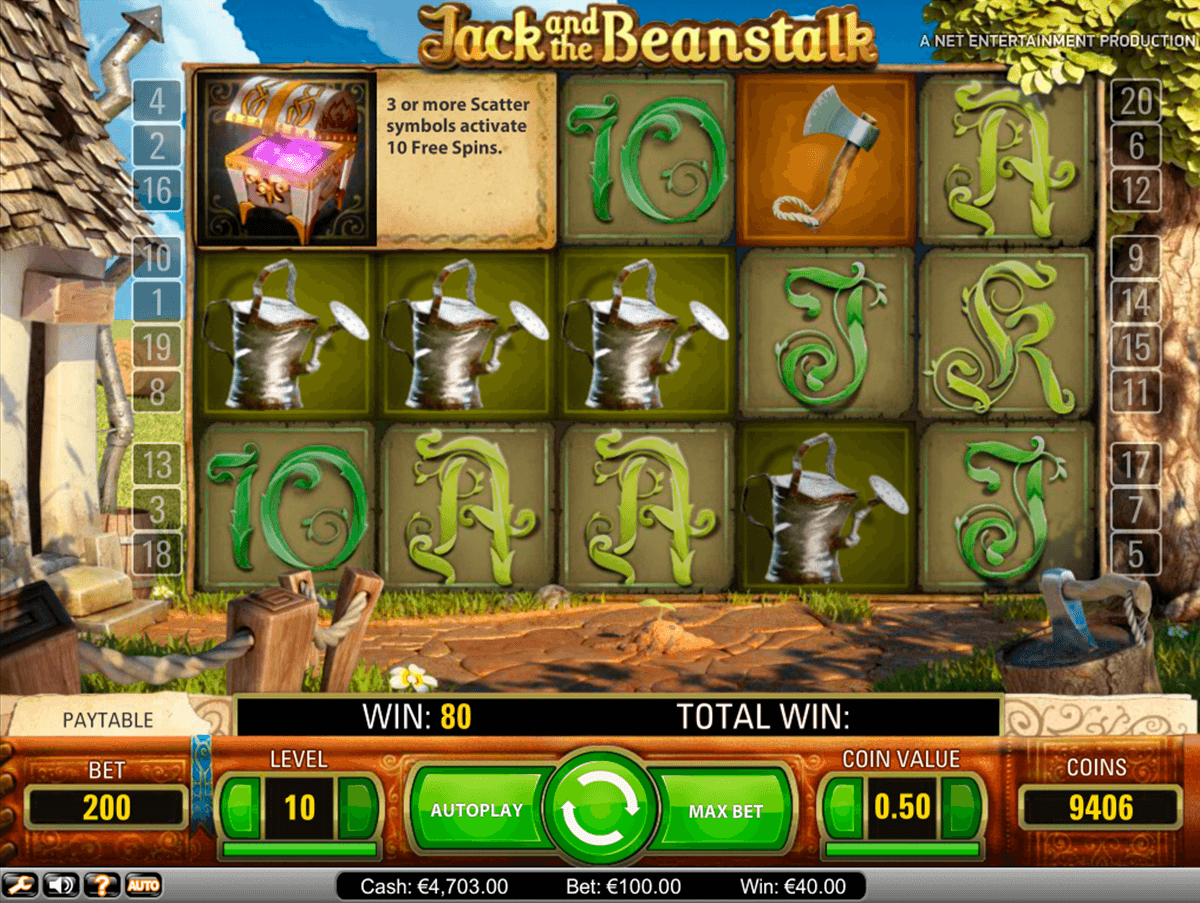 jack and the beanstalk netent online spielen