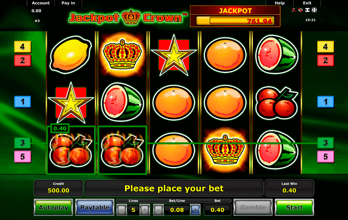 jackpot crown novomatic online spielen