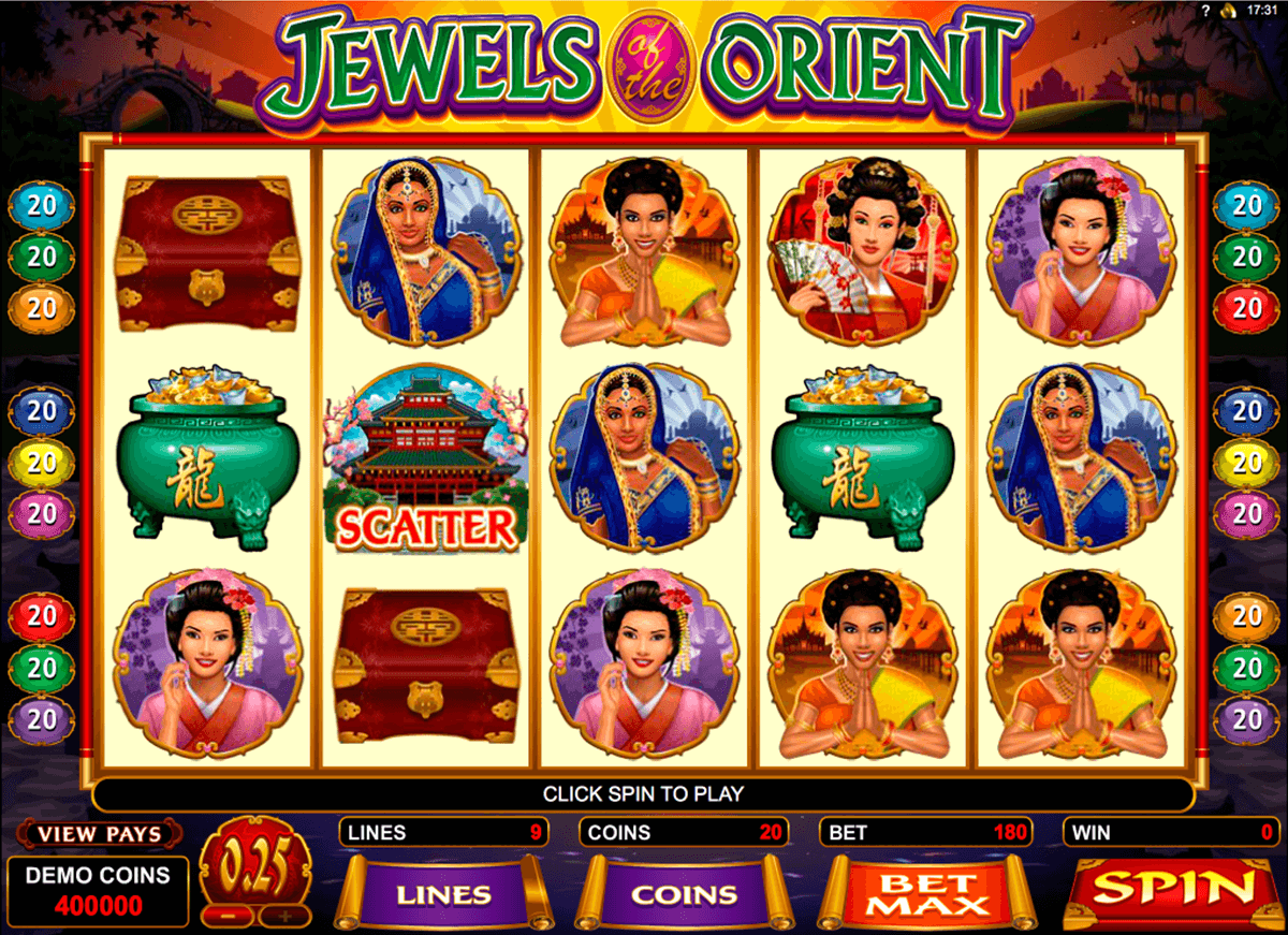jewels of the orient microgaming