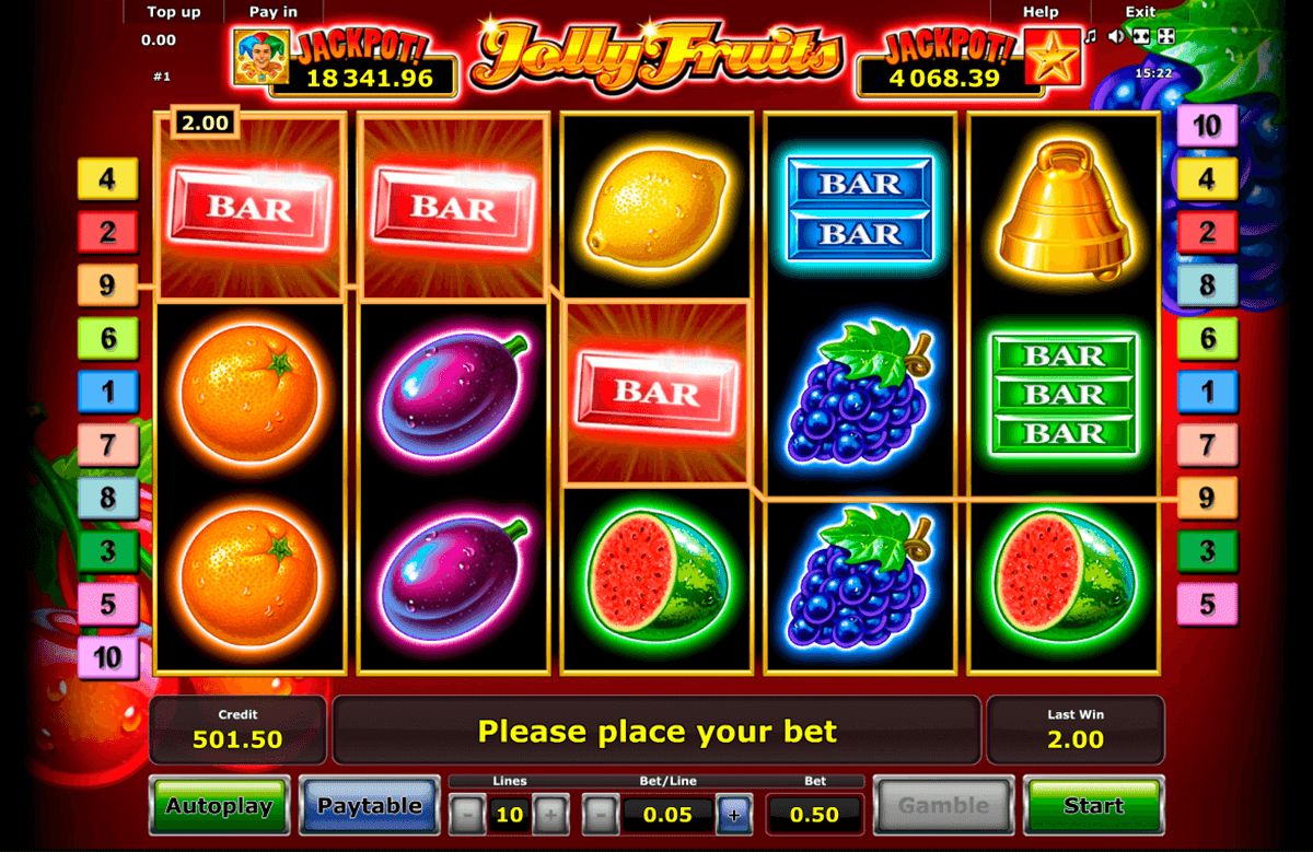 jolly fruits novomatic online spielen