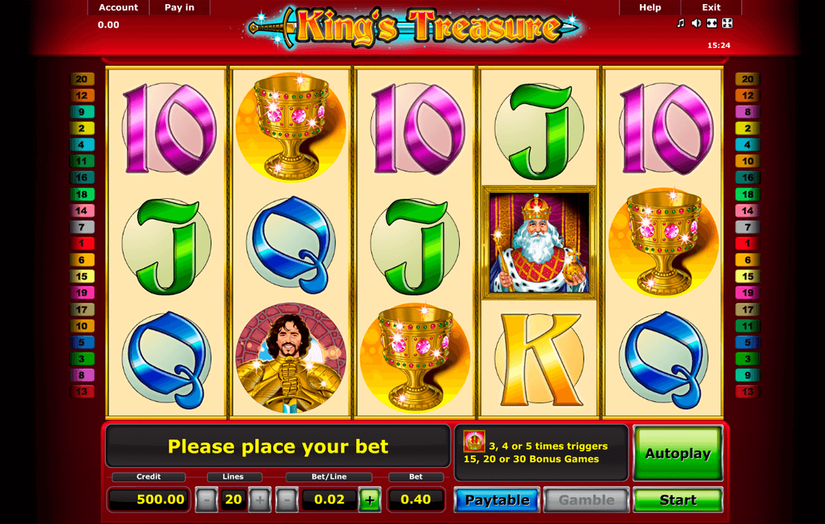 kings treasure novomatic