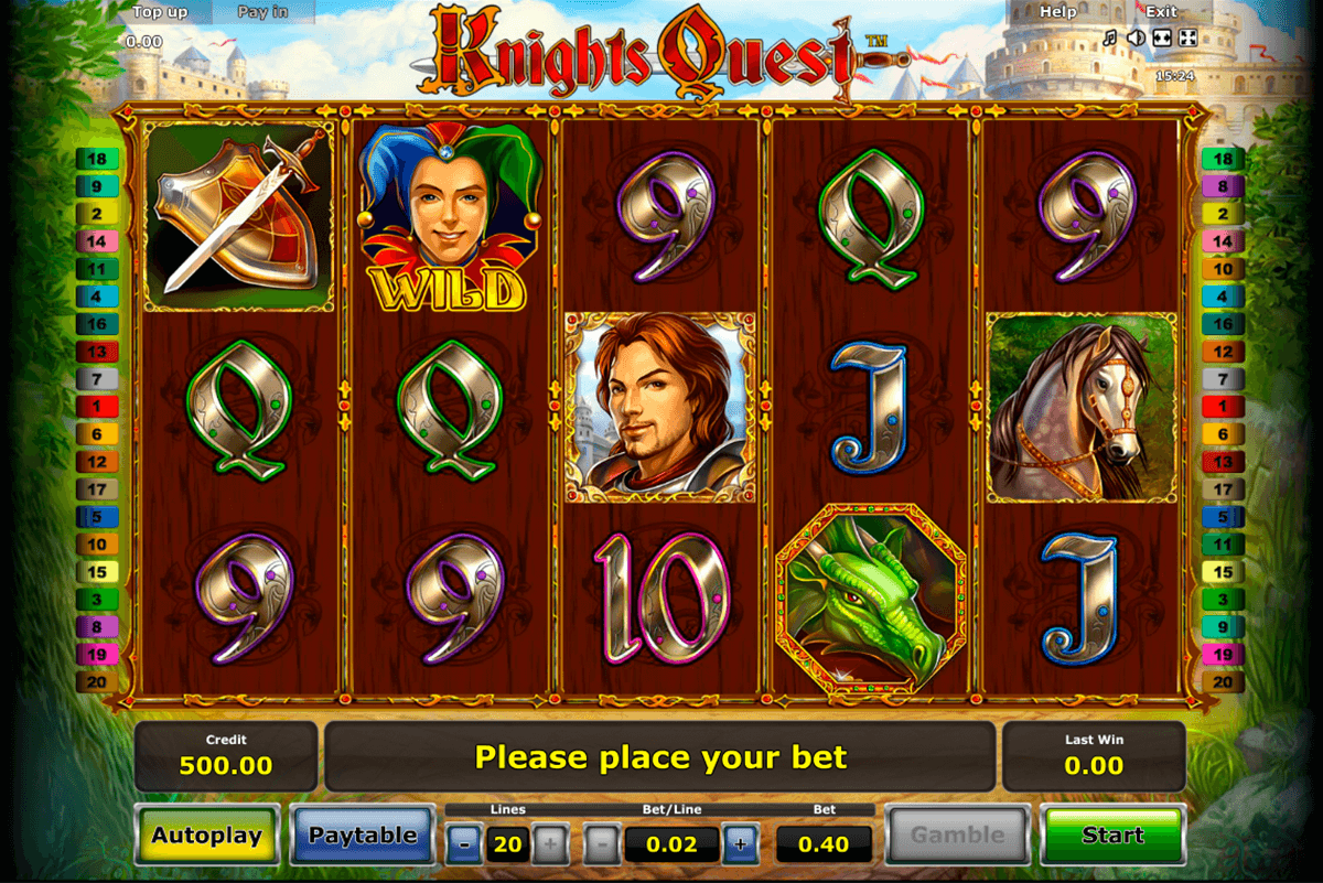 knights quest novomatic online spielen