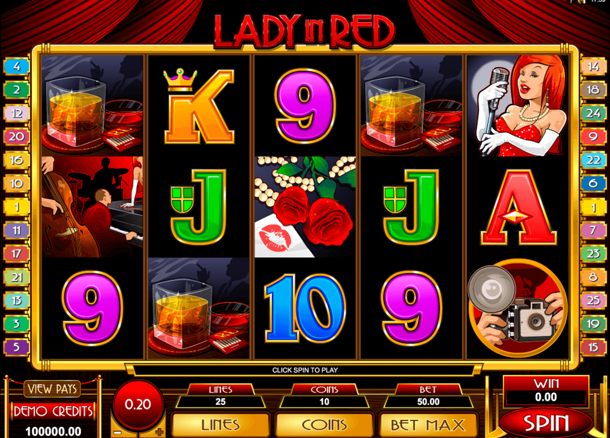 lady in red microgaming online spielen