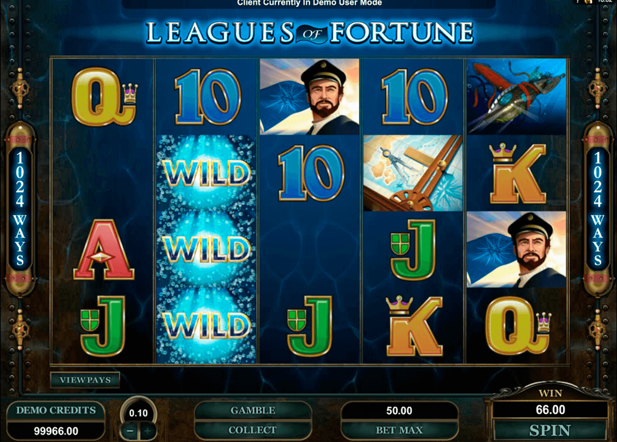 leagues of fortune microgaming online spielen