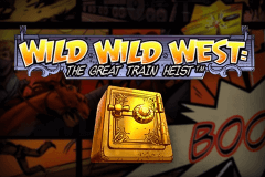 logo wild wild west the great train heist netent casino spielautomat