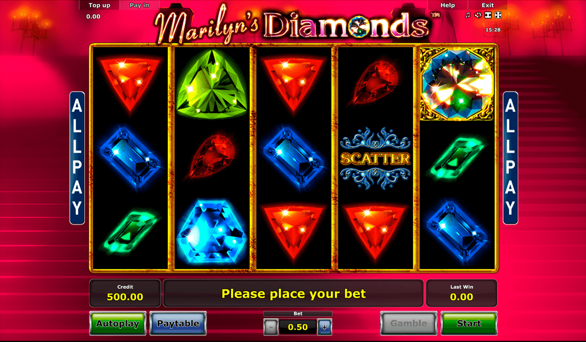 marilyns diamonds novomatic online spielen