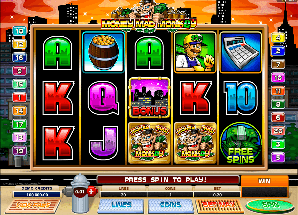 money mad monkey microgaming