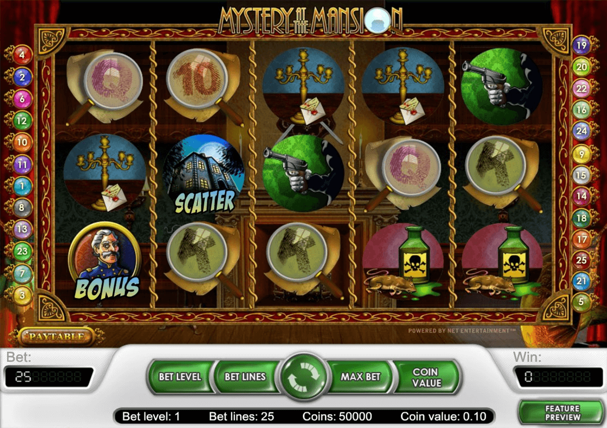 mystery at the mansion netent online spielen
