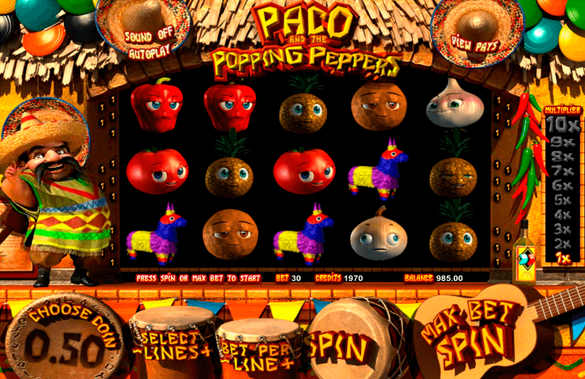 paco and the popping peppers betsoft online spielen