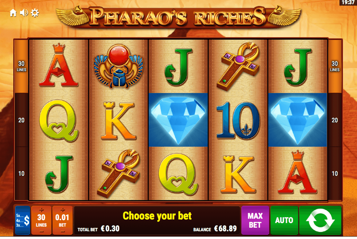 pharaos riches bally wulff