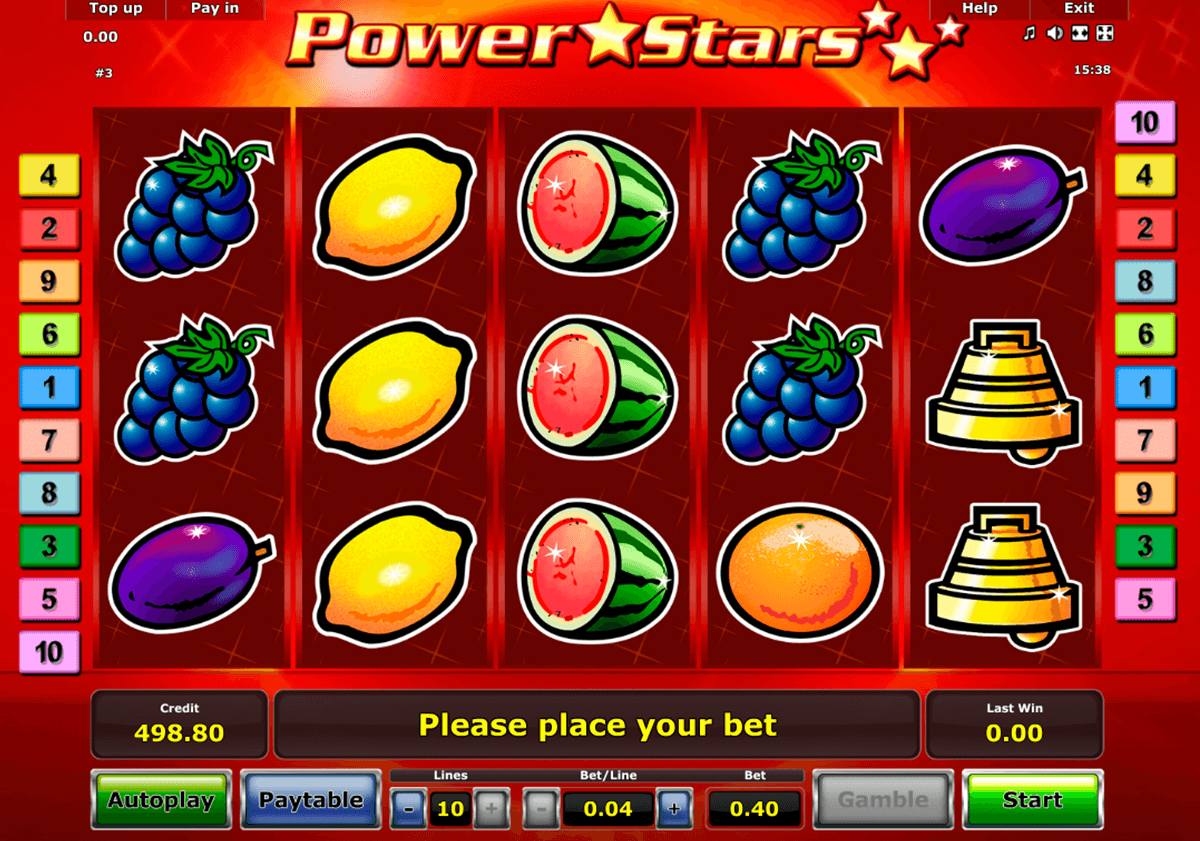 power stars novomatic online spielen