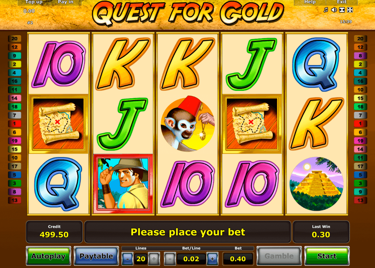 quest for gold novomatic online spielen