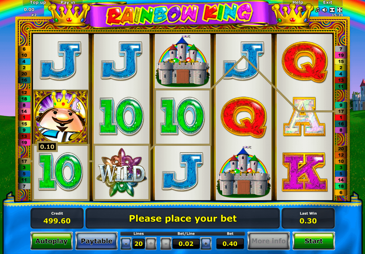 rainbow king novomatic online spielen