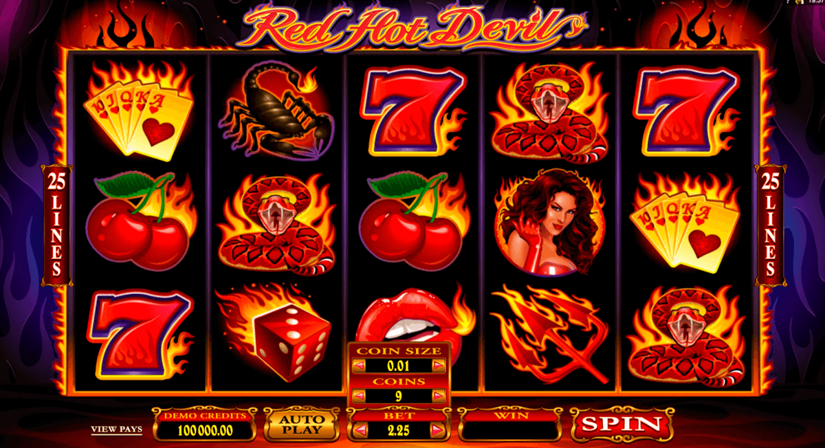 red hot devil microgaming online spielen