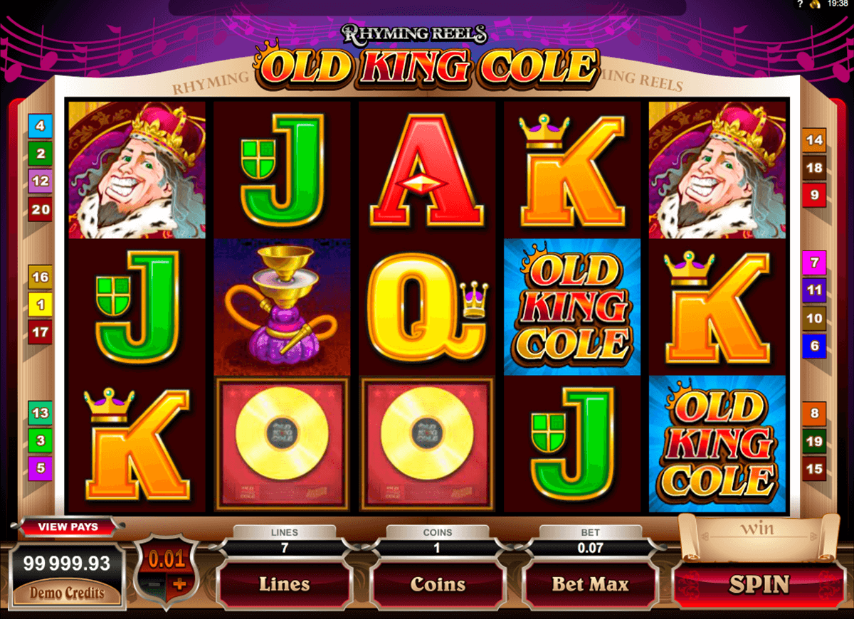 rhyming reels old king cole microgaming online spielen