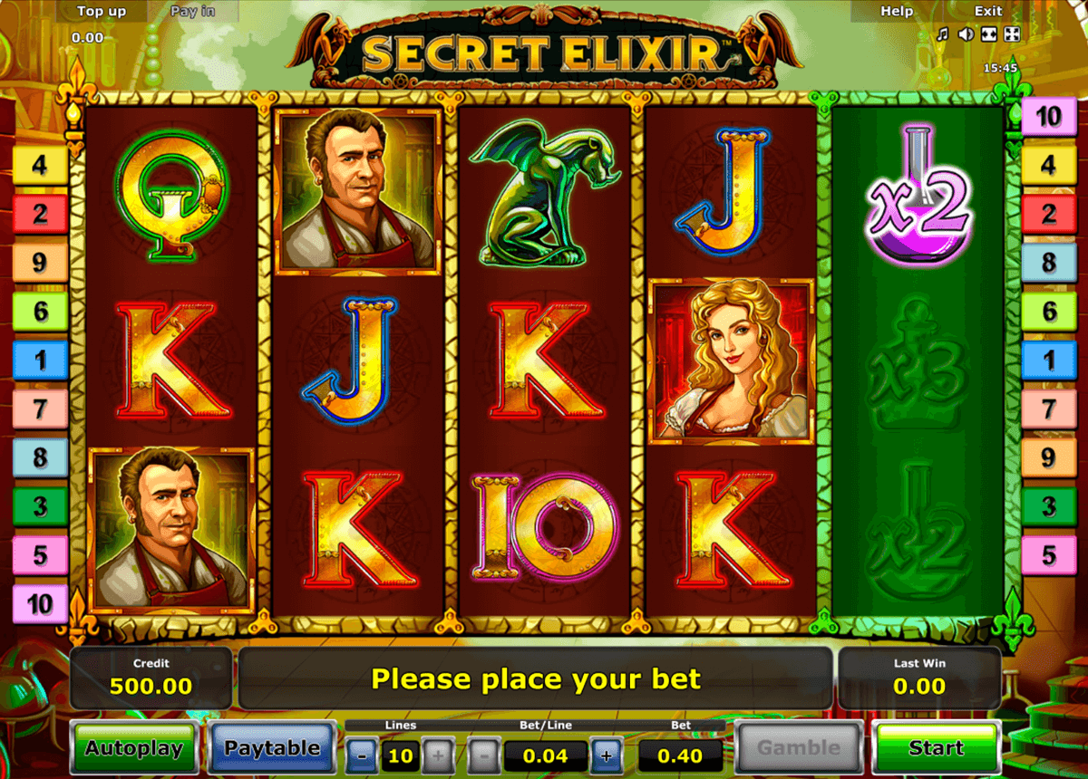 secret elixir novomatic online spielen