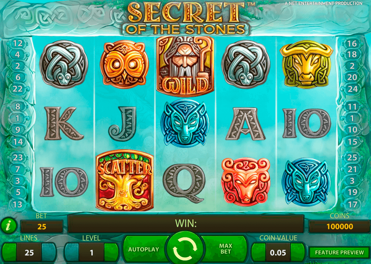 secret of the stones netent online spielen