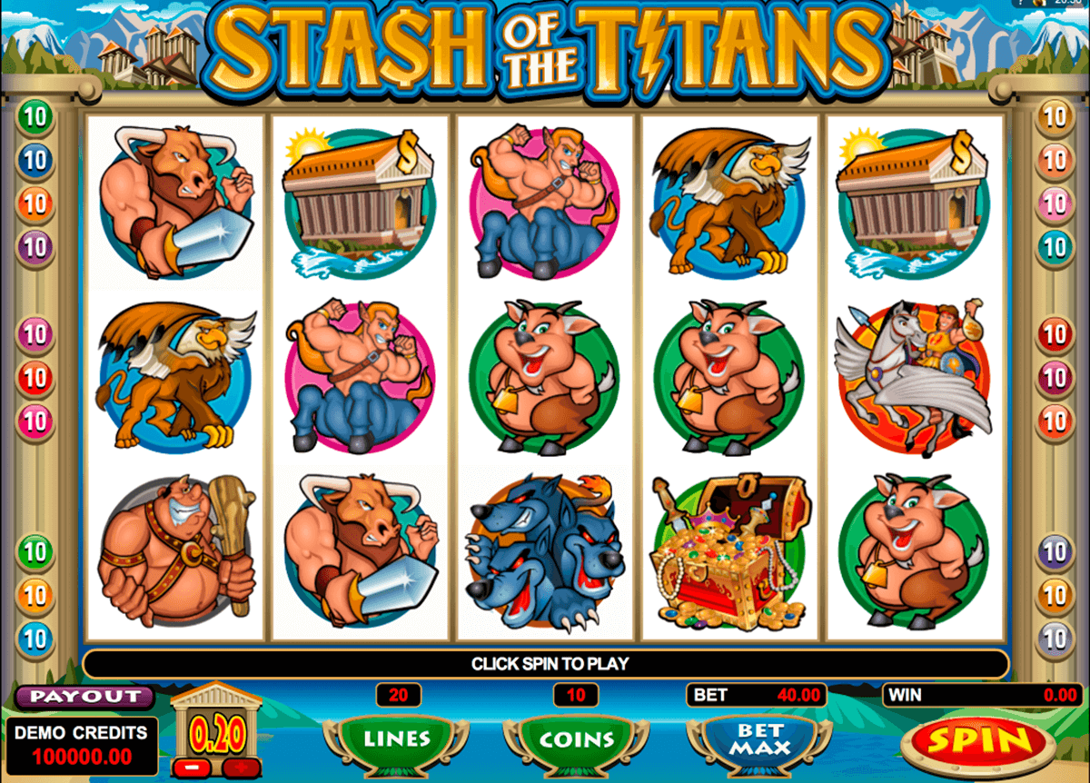 stash of the titans microgaming online spielen