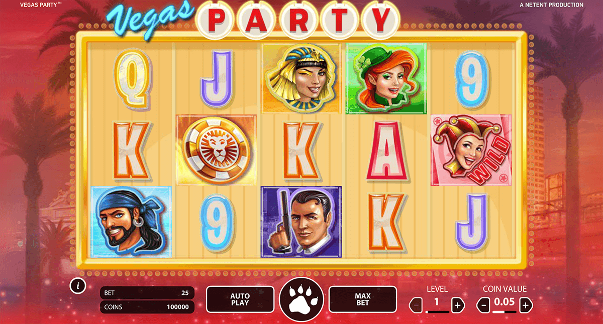 vegas party netent online spielen