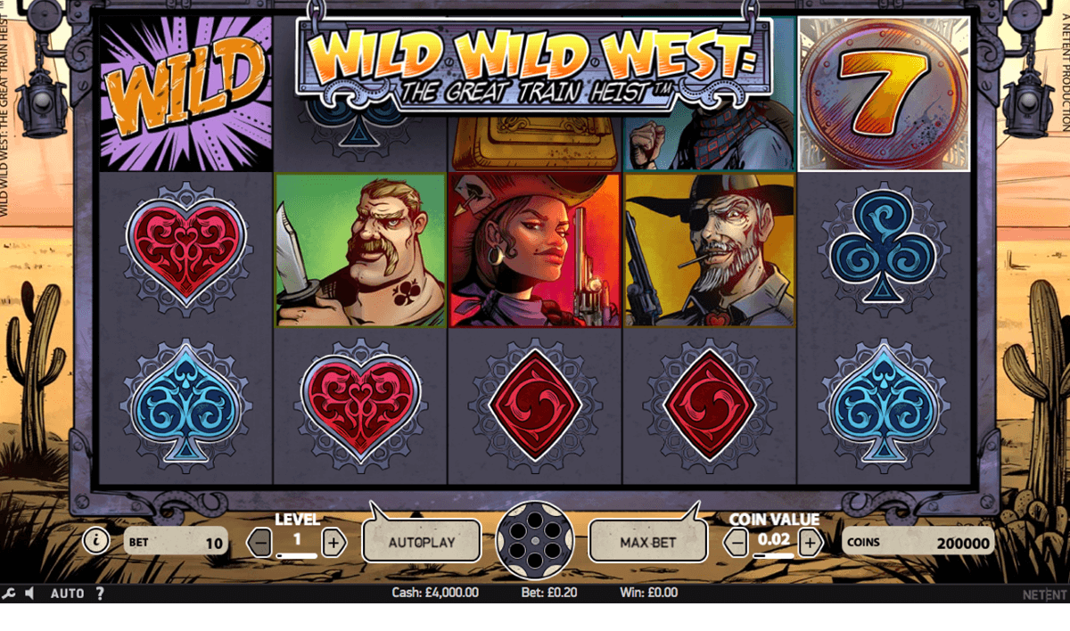 wild wild west the great train heist netent online spielen