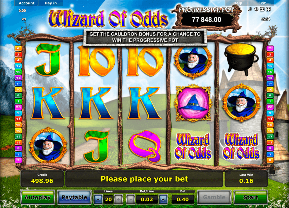 wizard of odds novomatic online spielen