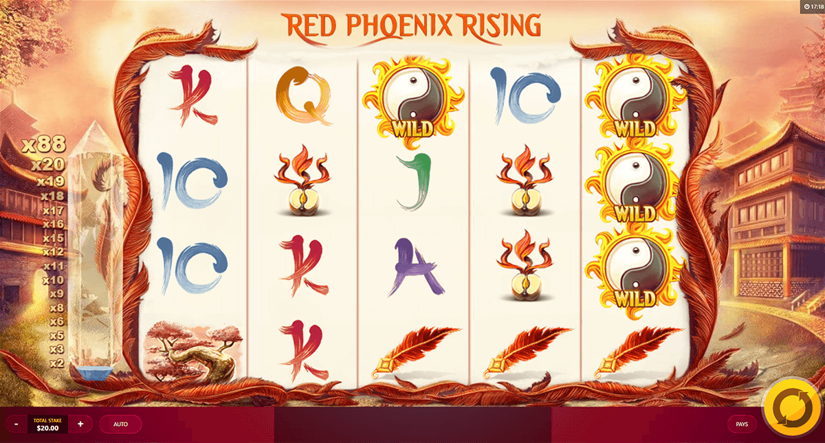 red phoenix rising red tiger