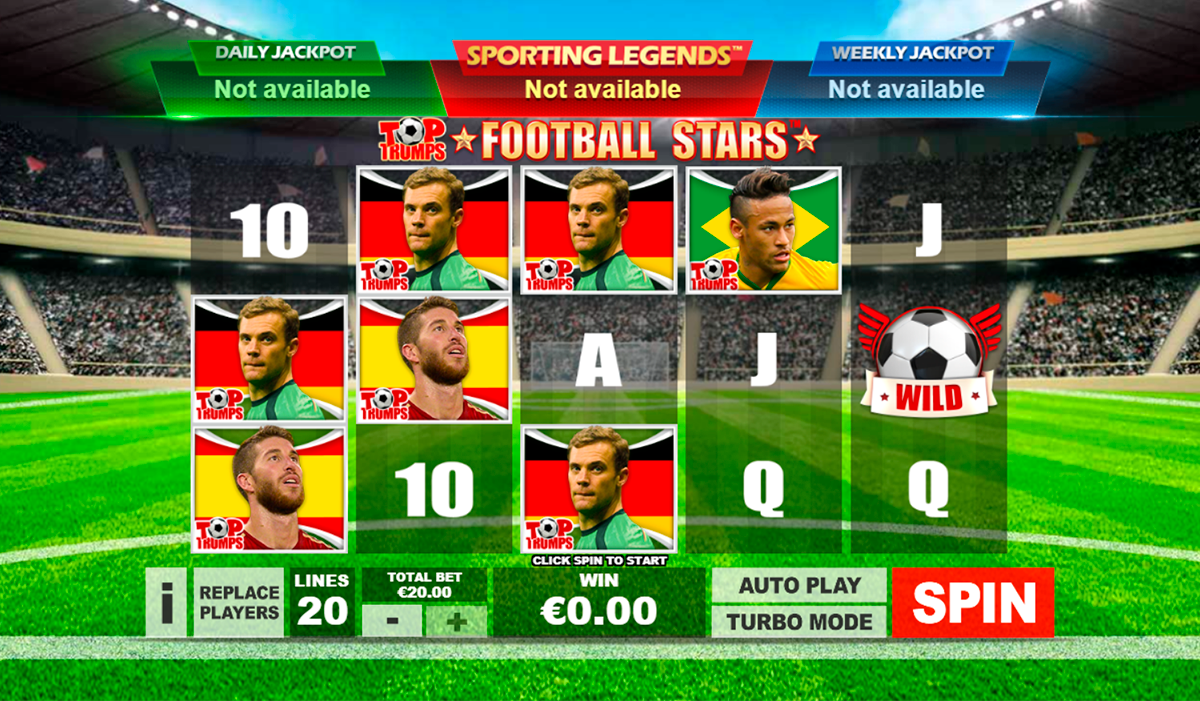 top trumps football stars playtech